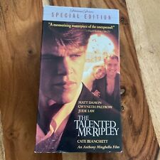 The Talented Mr. Ripley - Pre-owned Vhs, 2001, Special Edition - Jude Law