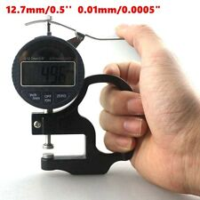 12.7mm 0.5'' Digital Thickness Meter Electronic Micrometer 0.01mm LCD Handle+Box