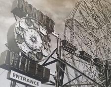 1920 CONEY ISLAND WONDER WHEEL RIDE AMUSEMENT PARK OLD TIME B/W