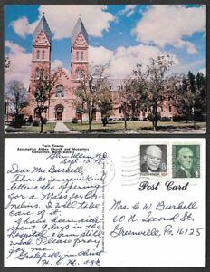 1976 North Dakota Postcard - Richardton - Assumption Abbey Church and Monastery