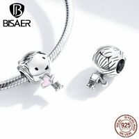 Little Boy Girl Charm 100% 925 Sterling Silver Bead Pandora Pendant Bracelet New