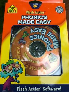 Flash Action Interactive Software Phonics Made Easy Ages 6+ School Zone NEW