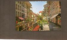 Switzerland Thun Hauptgasse shopping street 1950's unposted card