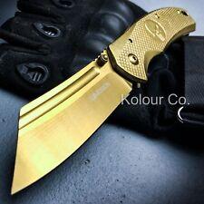 TACTICAL Spring Assisted Open Pocket Knife CLEAVER RAZOR FOLDING Blade SKULL