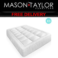 Mason Taylor Bedroom Bed King Single Size Bamboo Matress Topper TOPPER-BAM-KS
