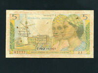 French Antilles:P-7b,5 Francs,1964 * Guadeloupe/Guyane/Martinique *