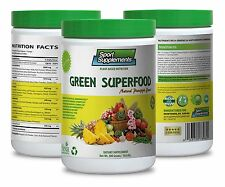 Greens Powder Vitamin - Green Superfood Pineapple 10.6oz - Antioxidants Plus 1C