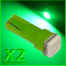 2X LED T5 SMD VERDE Lampade Lampadine Posizione Per Fari Angel Eyes Quadro MOTO