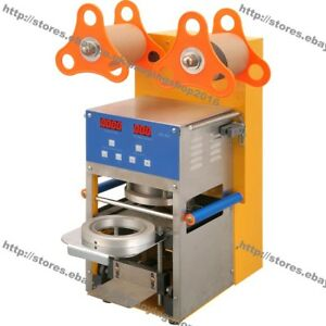 Commercial Use Automatic Electric Bubble Tea Boba Cup Sealer Sealing Machine