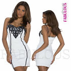Sexy Padded Sleeveless Mini Dress Party Summer Clubbing Evening Size 8 10 S M