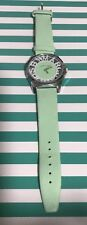 New Marc By Marc Jacobs Ladies Watch With Leather Band In Mint  Green