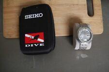RARE SEIKO RALLY 6119-7170 CHECKERED BLACK & WHITE BEZEL DIVER WATCH RUNS GOOD