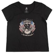 JOHNNY CASH MAN IN BLACK T-SHIRT PLUS SIZE WOMENS MUSIC TEE 2XL ZION ROOTSWEAR