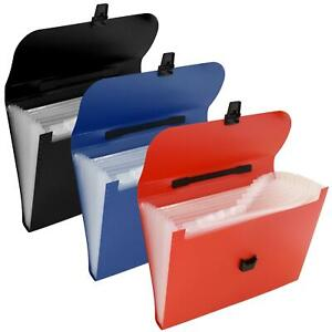 A4 Concertina Expanding File Accordion Folder Organiser Wallet Pockets A-Z
