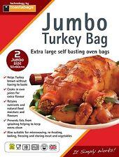 2 JUMBO TURKEY ROASTING OVEN BAGS 55X60 CM
