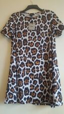 Asos A line Short dress size 16. Not lined Leopard colour