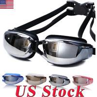 New Swimming Waterproof Professional Anti-fog Glasses UV Protection HD Goggles