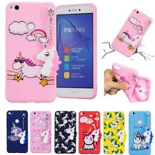 Unicorn Pendant Rubber Soft Shockproof Case Cove For Huawei P10 P20 Lite Xiaomi