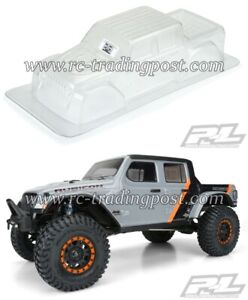"2020 Jeep Gladiator Clear Body for 12.3"" (313mm) Wheelbase Scale Crawlers"