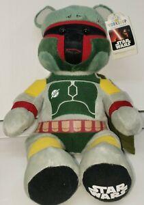 Build A Bear Star Wars Boba Fett Original Mandalorian Plush RARE Retired BAB tag
