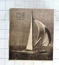 1937 Mr Vanderbilt Yacht Ranger Winner Of America's Cup