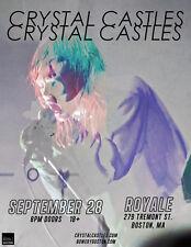 CRYSTAL CASTLES 2017 BOSTON, MASS CONCERT TOUR POSTER-Electro Punk / Clash Music