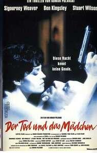 VHS Der Tod und das Mädchen 99 Minuten - Sigourney Weaver - Ben Kingsley - 1995