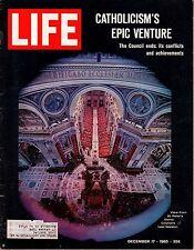 1965 Life December 17 - Vatican II ends; Dante; Guy Lombardo; Gemini 7; B Harris