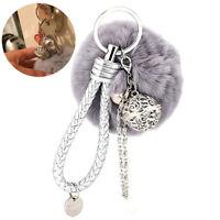 1 pc Pom Pom Keychain Plush Ball Key Chain Fluffy Accessories Hanging Ornament