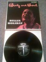 BILLIE HOLIDAY - BODY AND SOUL LP EX!!! RARE U.S VERVE V-8197 CLEF