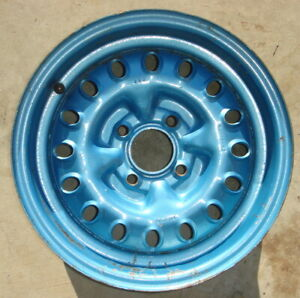 Triumph Spitfire Steel Road Wheel 5J X 13 Slotted From A 1980 Will Fit Others