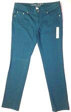 New Refuge size 11 Teal green stretch denim Skinny jeans pants