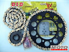 KIT TRASMISSIONE CATENA HONDA TRANSALP XL 600 '89-'00 NERO DID 525 VX X-RING+Rib