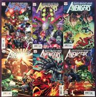 Avengers #1 to #6 A covers (Marvel 2018) 6 x High grade issues.