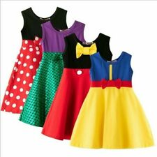 2020 Summer Children Girls Kids Sleeveless Dress Mickey Princess One-Piece Dress