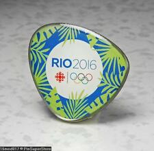 OLYMPIC PINS BADGE 2016 RIO DE JANEIRO BRAZIL CANADA RADIO CBC MEDIA SPONSOR