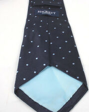 Gorgeous Mens Silk Navy Blue Spotted Tie by Hackett's of London