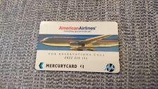 American Airlines plane airways Mercury Telecom UK phone card British seller