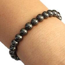 Black Magnetic Round Bead Hematite Bracelet Pain Relief Therapy Arthritis