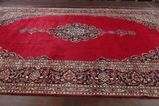 Antique Traditional Floral Open-field Ardakan RED Area Rug Hand-Knotted 10'x15'