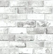 Wallpaper Debona Wallcoverings White Grey Silver Shimmer Brick 6751