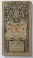 Antique 1911 OS Ordnance Survey Third Edition one-inch map 115 Windsor Richmond