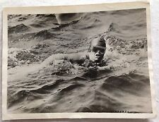 ORIG 1926 SWIMMER ENGLISH CHANNEL GERTRUDE EDERLE FLUSHING NEW YORK WIRE PHOTO