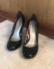 Madden Girl Black Patent Leather Look Pump ~Sursey Size 8