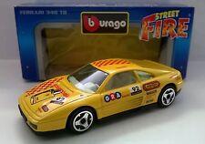 BURAGO STREET FIRE 1:43 AUTO DIE CAST FERRARI 348 TB GIALLO 4139  MADE IN ITALY
