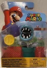 "Jakks World of Nintendo Super Mario Bros BONE PIRANHA PLANT 4"" Action Figure NEW"