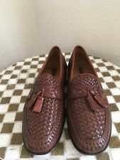 BROWN BRASS BOOT HANDMADE LEATHER WEAVE DRIVING  SHOES 8.5 D