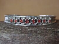 Zuni Indian Jewelry Sterling Silver Coral Bracelet
