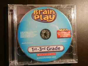 2005 Brain Play *1st-3rd GRADE - MATH, READING, SCIENCE & TYPING* used CD-ROM's.