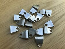 Jewellery Making Zamac Silver 13.5 x 12.5mm Clasp Connector for Flat Leather